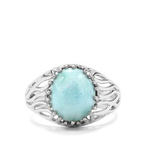 4.73ct Larimar Sterling Silver Ring