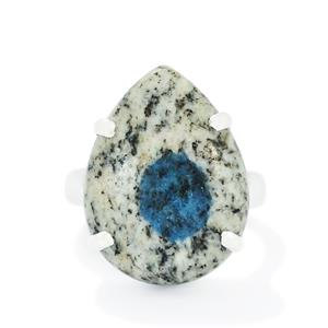 14.66ct K2 Azurite Sterling Silver Aryonna Ring