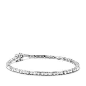 2ct Diamond Sterling Silver Bracelet