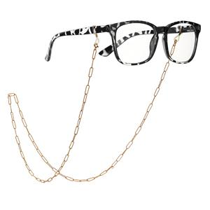 "30"" Gold Tone Sterling Silver Glasses Chain 7.91g"