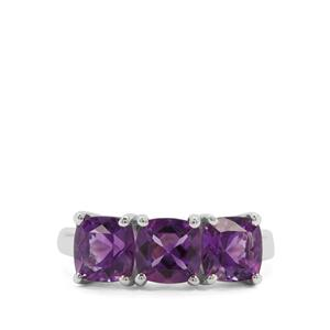 Moroccan Amethyst Ring in Sterling Silver 2.79cts