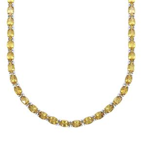 Scapolite Necklace in Sterling Silver 27.35cts
