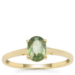 Namibian Demantoid Garnet Ring in 9K Gold 1cts