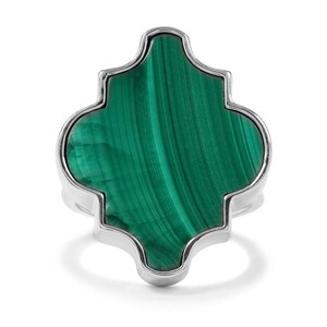 19.51ct Malachite Sterling Silver Ring