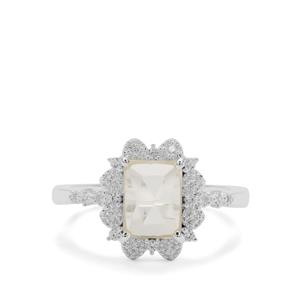 Serenite Ring with White Zircon in Sterling Silver 1.56cts