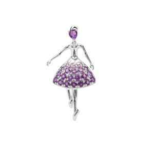 Ametista Amethyst Pendant in Sterling Silver 2.26cts