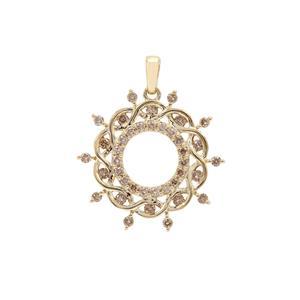 Champagne Argyle Diamond Pendant in 9K Gold 0.51ct