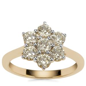 Natural Yellow Diamond Ring in 18K Gold 1.25ct
