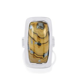 21.50ct Schelm Blend Sphalerite Sterling Silver Aryonna Ring