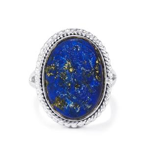 Lapis Lazuli Drusy Ring in Sterling Silver 13cts