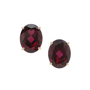 Tocantin Garnet Earrings in 9K Gold 4.69cts