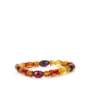 Baltic Cognac, Cherry & Champagne Amber Stretchable Bracelet