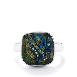 Cyber Web Chrysocolla Ring in Sterling Silver 8.32cts