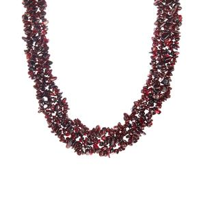 Rajasthan Garnet Necklace in Sterling Silver 850.55cts