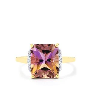 Anahi Ametrine Ring with Diamond in 9K Gold 4.21cts