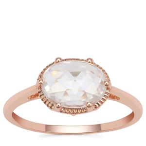 Rose Cut Ratanakiri Zircon Ring  in 9K Rose Gold 1.96cts