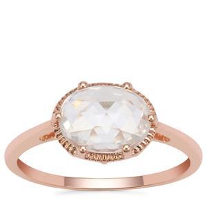 Rose Cut Ratanakiri Zircon Ring  in 9K Rose Gold 1.96cts