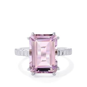 Rose De France Amethyst Ring  in Sterling Silver 8.50cts