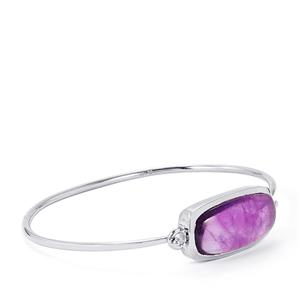 Zambian Amethyst Bar Bangle in Sterling Silver 23.34cts