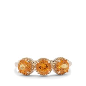 Mandarin Garnet Ring in 9K Gold 1.80cts
