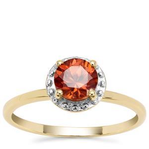 Zanzibar Sunburst Zircon Ring in 9K Gold 1.32cts