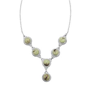 Queensland Chrysoprase Necklace in Sterling Silver 24.50cts