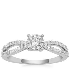 Diamond Ring in Platinum 950 0.50ct