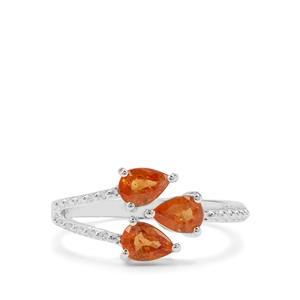 1.64ct Mandarin Garnet Sterling Silver Ring