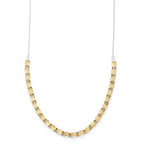Natural Bolivian Champagne Quartz Necklace in Sterling Silver 17.60cts
