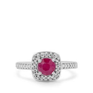 Kenyan Ruby Ring in Sterling Silver 1.03cts