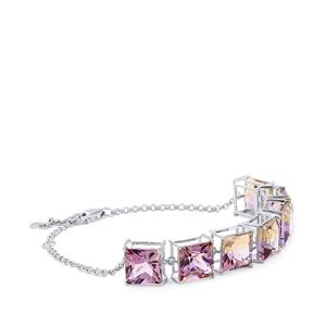 Anahi Ametrine Bracelet  in Platinum Plated Sterling Silver 24.21cts