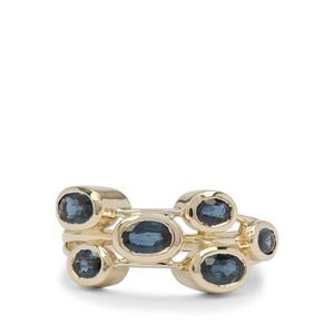 Nigerian Blue Sapphire Ring in 9K Gold 2.10cts
