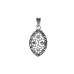 Natural Marcasite Jewels of Valais Pendant in Sterling Silver 0.41cts