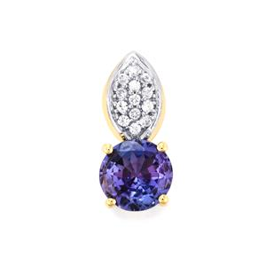 AA Tanzanite Pendant with White Zircon in 9K Gold 0.65cts