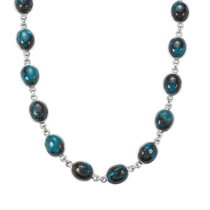 58.14ct Chrysocolla Sterling Silver Aryonna Necklace