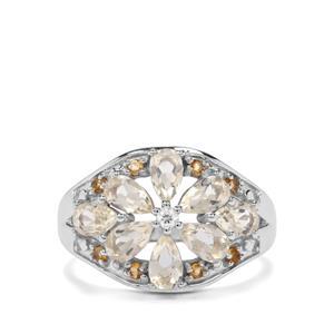 Serenite & Diamantina Citrine Sterling Silver Ring ATGW 1.78cts