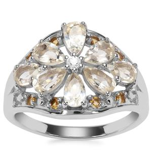 Serenite Ring with Diamantina Citrine in Sterling Silver 1.78cts