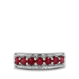 1.19ct Malagasy Ruby Sterling Silver Ring (F)