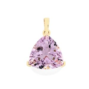 Rose De France Amethyst Pendant in 10k Gold 6.06cts