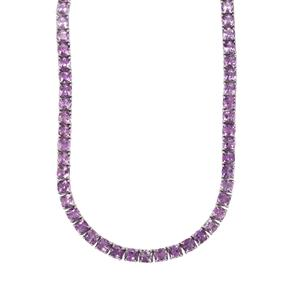 Moroccan Amethyst Necklace in Sterling Silver 62.85cts