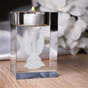 Gem Auras Crystal Glass Candle Holder