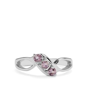 0.32ct Rose du Maroc Amethyst Sterling Silver Rings