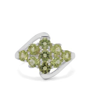 2.58ct Red Dragon Peridot Sterling Silver Ring