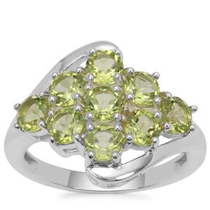 Red Dragon Peridot Ring in Sterling Silver 2.58cts