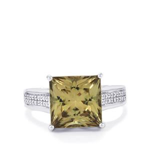 Csarite® Ring with Diamond in 18k White Gold 6.09cts