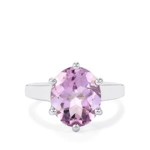 3.95ct Rose De France Amethyst Sterling Silver Ring