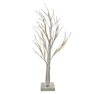 Gem Auras Silver LED Decorative Tree with 24 lights - 60cm