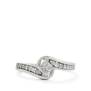 0.27ct Diamond Sterling Silver Ring