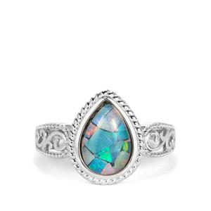 Mosaic Opal (7x10mm) Ring in Sterling Silver