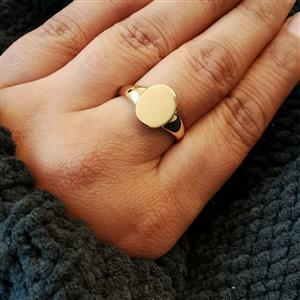 Gold Tone Sterling Silver Ring 3.62g